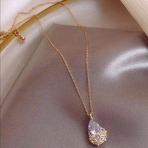 Jewelry - Gorgeous TearDrop Crystal Charm necklace